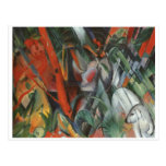 Franz Marc - In Rain 1912 Oil Canvas People Palm Post Card