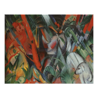 Franz Marc - In Rain 1912 Oil Canvas People Palm Poster