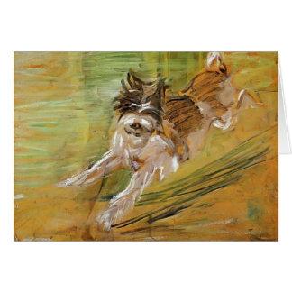 Franz Marc: Jumping Dog Schlick Card