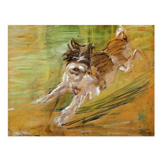 Franz Marc: Jumping Dog Schlick Postcard