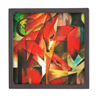 Franz Marc la pintura del arte moderno del Fox Caja De Recuerdo De Calidad