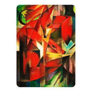 Franz Marc la pintura del arte moderno del Fox Invitación
