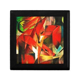 Franz Marc la pintura del arte moderno del Fox Joyero Cuadrado Pequeño