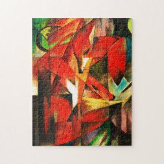 Franz Marc la pintura del arte moderno del Fox Puzzles