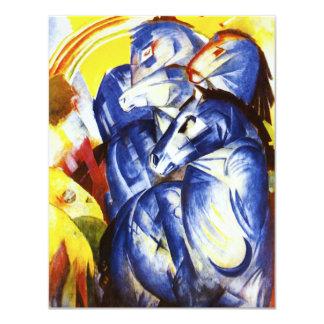 Franz Marc la torre de las invitaciones azules de Invitación 10,8 X 13,9 Cm