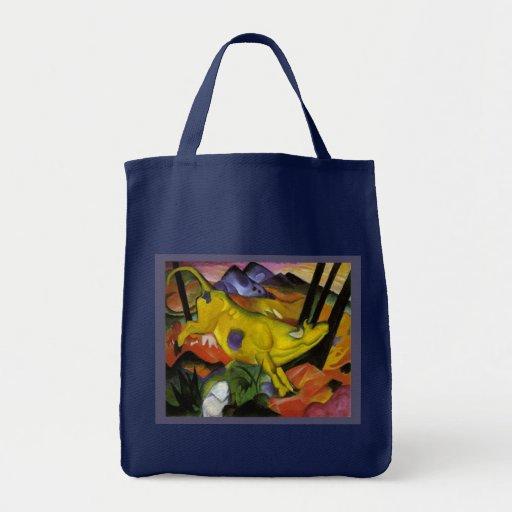 Franz Marc - la vaca amarilla - arte del expresion Bolsas