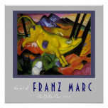 Franz Marc - la vaca amarilla - arte del expresion Impresiones