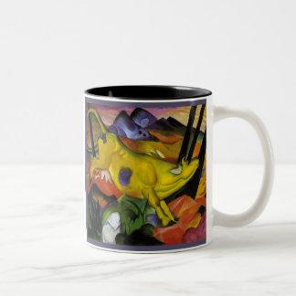 Franz Marc - la vaca amarilla - arte del expresion Taza De Café