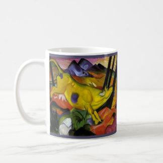 Franz Marc - la vaca amarilla - arte del expresion Tazas De Café