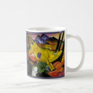 Franz Marc - la vaca amarilla - arte del Tazas De Café