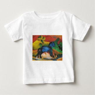 Franz Marc - Little Blue Horse 1912 Oil Canvas Baby T-Shirt