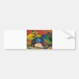Franz Marc - Little Blue Horse 1912 Oil Canvas Bumper Stickers