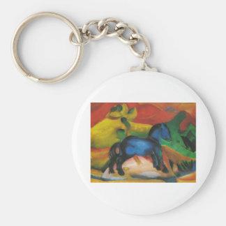 Franz Marc - Little Blue Horse 1912 Oil Canvas Keychain