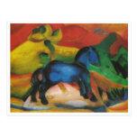 Franz Marc - Little Blue Horse 1912 Oil Canvas Postcard
