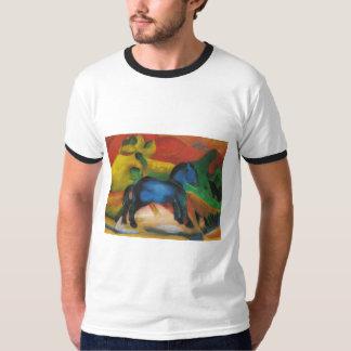 Franz Marc - Little Blue Horse 1912 Oil Canvas T-Shirt