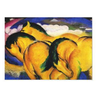 "Franz Marc Little Yellow Horses Invitations 5"" X 7"" Invitation Card"