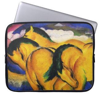Franz Marc Little Yellow Horses Laptop Sleeve
