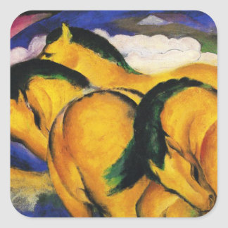 Franz Marc Little Yellow Horses Stickers