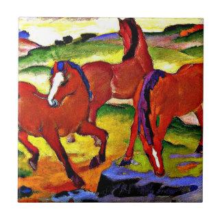 Franz Marc - pastando caballos IV. 1911 Azulejo Cuadrado Pequeño
