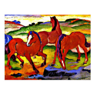 Franz Marc - pastando caballos IV. 1911 Tarjetas Postales
