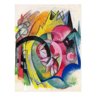 Franz Marc - pequeña composición II Postales