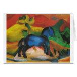 Franz Marc - pequeña lona azul del aceite del Tarjeta De Felicitación