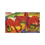 Franz Marc que pasta caballos Impresión De Lienzo