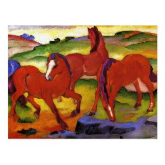 Franz Marc que pasta la postal de los caballos