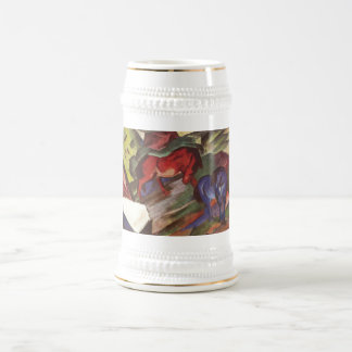 Franz Marc - Red & Blue Horse 1912 Paper Horses Beer Stein