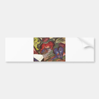 Franz Marc - Red & Blue Horse 1912 Paper Horses Bumper Sticker
