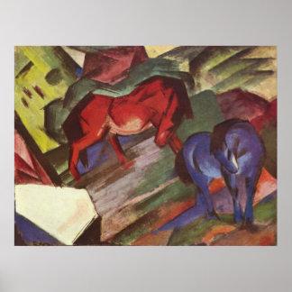 Franz Marc - Red & Blue Horse 1912 Paper Horses Print