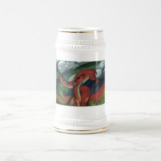 Franz Marc - Red Deer II 1912 Forest Animal fawn Beer Stein