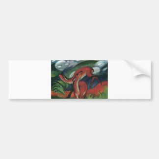 Franz Marc - Red Deer II 1912 Forest Animal fawn Bumper Sticker