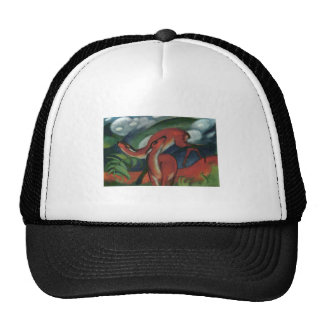Franz Marc - Red Deer II 1912 Forest Animal fawn Mesh Hats