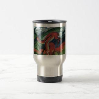 Franz Marc - Red Deer II 1912 Forest Animal fawn Travel Mug