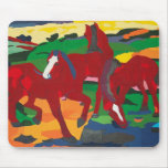 Franz Marc - Red Horses Mouse Pad