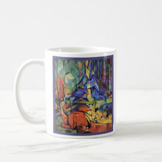 Franz Marc - Roe Doe in Forest - Expressionist Classic White Coffee Mug