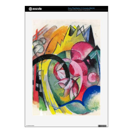 Franz Marc - Small composition II PS3 Console Decals