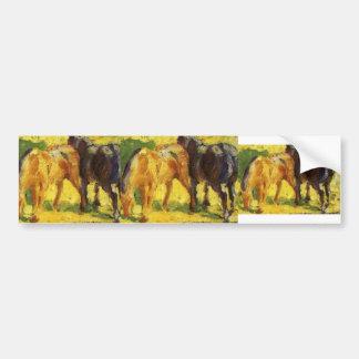 Franz Marc- Small Horse Picture Car Bumper Sticker