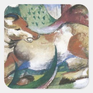 Franz Marc Springendes Pferd Square Sticker