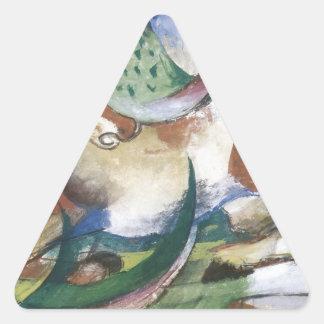 Franz Marc Springendes Pferd Triangle Sticker
