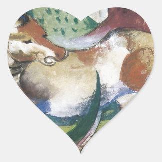 Franz Marc Springendes Pferd Heart Sticker