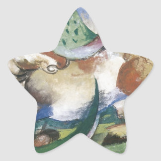 Franz Marc Springendes Pferd Star Sticker