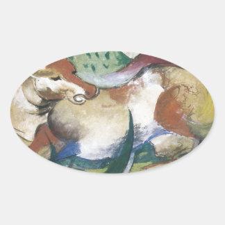 Franz Marc Springendes Pferd Oval Sticker