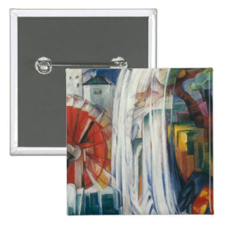 Franz Marc - The Bewitched Mill Pinback Buttons