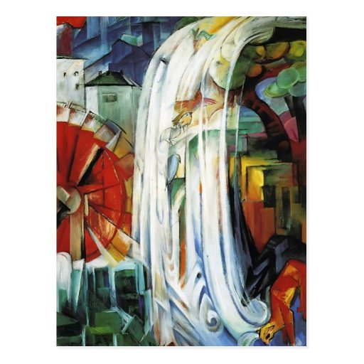 Franz Marc- The Enchanted Mill Postcard
