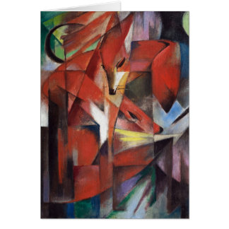 Franz Marc - The Foxes, 1913 Card