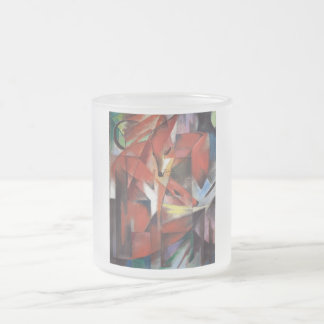 Franz Marc - The Foxes, 1913 Frosted Glass Coffee Mug