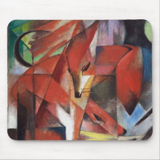 Franz Marc - The Foxes, 1913 Mouse Pad