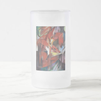 Franz Marc - The Foxes, 1913 Frosted Beer Mug